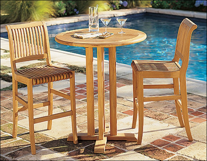 TeakSmith Teak Furniture Wholesale Prices - Teak bar height table and chairs