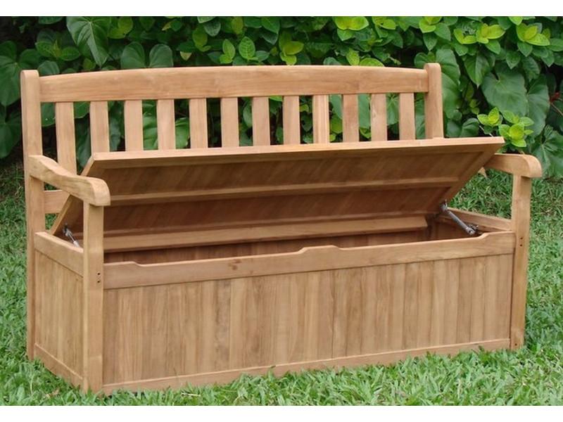 Devon 5 Feet Bench with Storage Box - TeakSmith -: Teak Furniture @ Wholesale Prices