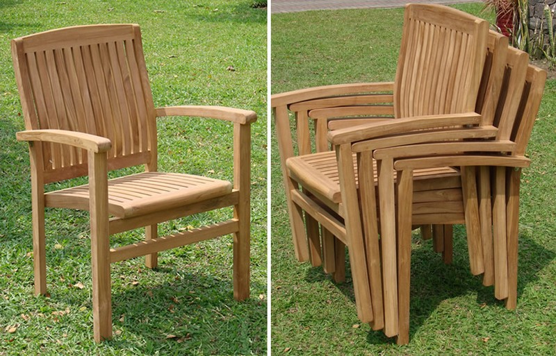 Wave Stacking Arm / Captain Dining Chair