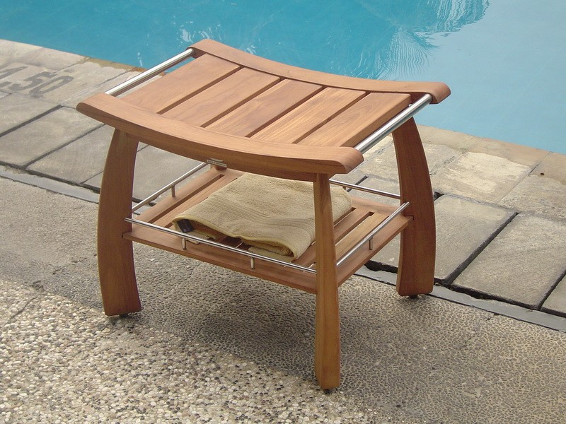 review and stool bath corner stools solid bench patio shower outdoor spa teak