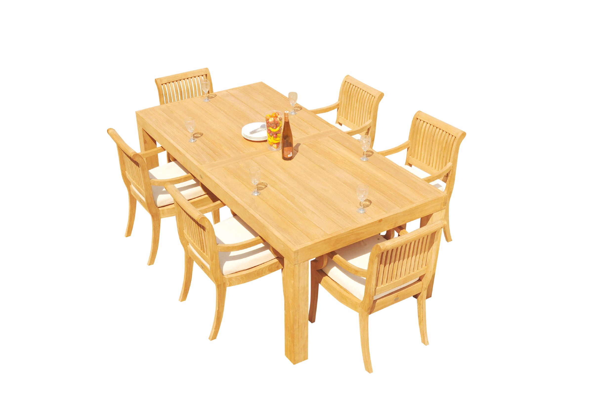 7pc Grade A Teak Dining Set 86 Quot Canberra Rectangle Table 6